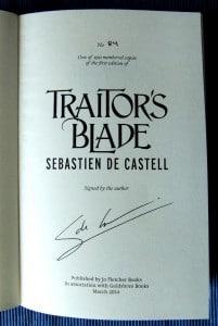 Vom Autor signierte Ausgabe mit der Nummer 84 von 250.