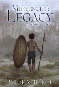 Peter V. Brett: Messenger's Legacy Trade Edition Cover Subterranean Press (2014)