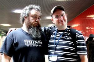 Patrick Rothfuss und Ich (ich bin der ohne Bart) ;)