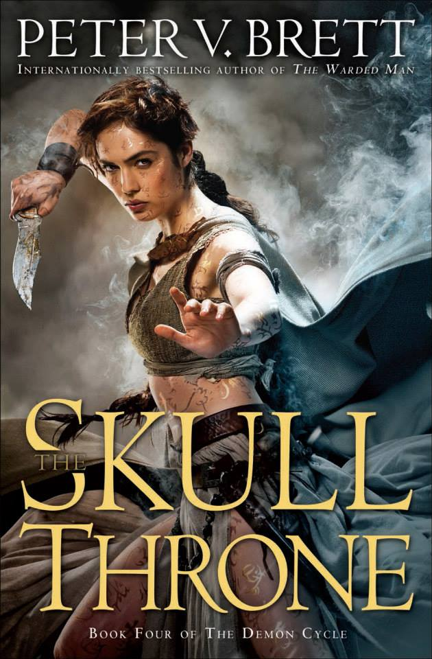 Peter V. Brett: The Skull Throne US Hardcoverausgabe Del Rey (2015)