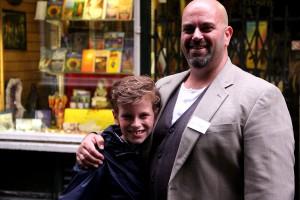 John Gwynne und sein jüngster Sohn William London, 12. August 2014 (c) J. Kögler