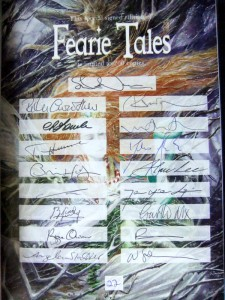 Fearie Tales (Hrg. Stephen Jones) Signaturseite im Buch