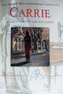 Stephen King: Carrie 40th Aniversary Ltd. Ed. Signaturseite