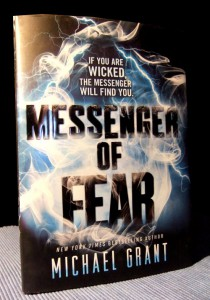 Michael Grant: Messenger of Fear UK-Hardcover Katherine Tegen Books (2014)