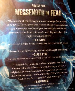 Michael Grant: Messenger of Fear Coverrückseite
