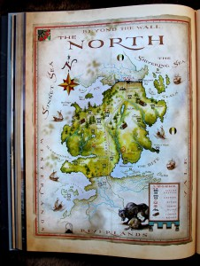 George R. R. Martin: The World of Ice and Fire Karte des Nordens (c) Harper Voyager (2014)