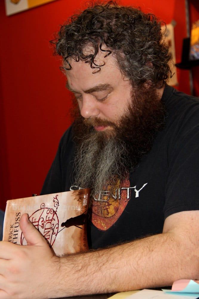 Patrick Rothfuss, Autor von Der Name des Windes, auf der Buchmesse in Leipzig 2015