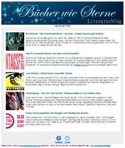 Der neue Newsletter auf Bücher wie Sterne
