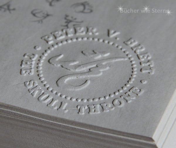 Skull Throne Prägestempel der US-Hardcoverausgabe