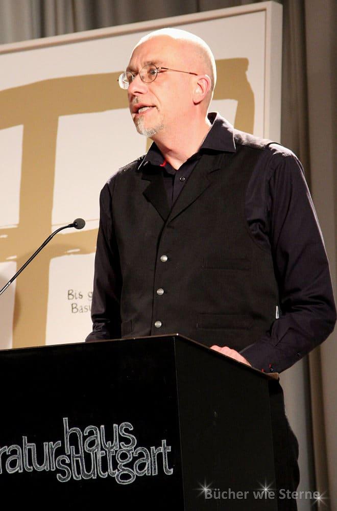 Alex Jahnke las die Laudatio zur Preisverleihung, Stuttgart im Juni 2015