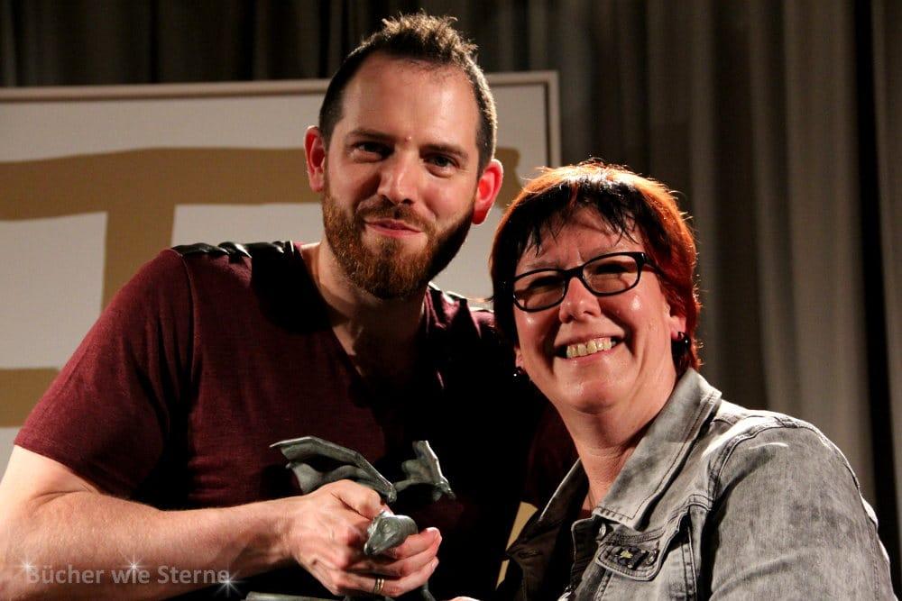 Joe Abercrombie mit seiner deutschen Übersetzerin Kirsten Borchardt, Stuttgart im Juni 2015