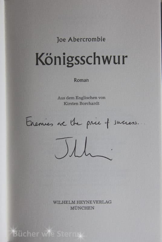 Die signierte Titelseite