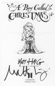 Matt Haig: A Boy Called Christmas Signierte Titelseite