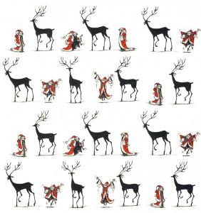Vorsatzpapier Künstler: Chris Mould (Ein Junge namens Weihnacht)