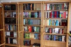 Vitrinen für die Bücher