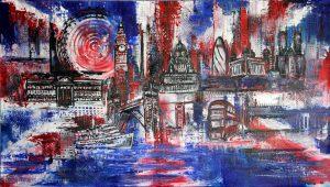 London Skyline Künstlerin: Alexandra Brehm Atelier Burgstallers Art
