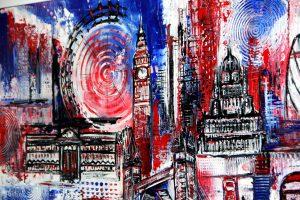 London Skyline Künstlerin: Alexandra Brehm Burgstallers Art
