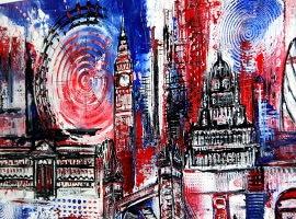 Hingucker: LONDON ART für mein Wohnzimmer