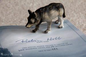 Signatur im zweiten Buch Das Buch hat die Nummer 293 von 500.
