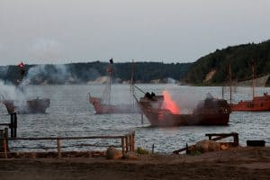 Eine Seeschlacht