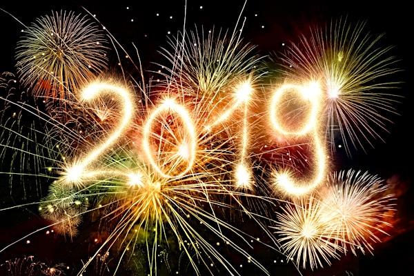 Alles Gute, Glück, Erfolg und Gesundheit für das neue Jahr 2019!