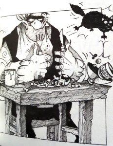 """Illustration in """"Die Wahrheitselfe"""""""