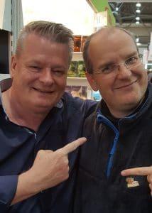 Rainer Wekwerth (links) und Jay auf der Leipziger Buchmesse