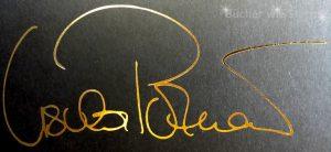 Goldene Signatur in der limitierten HC-Ausgabe von Erebos
