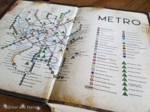 Karte der Moskauer Metro im in der Omnibus-Ausgabe. Metro 2033