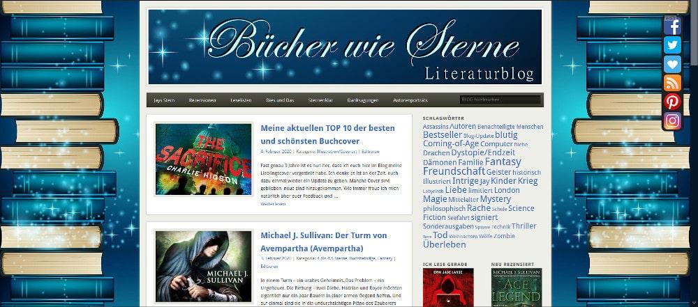 """Die """"alte"""" Version des Literaturblogs """"Bücher wie Sterne"""""""
