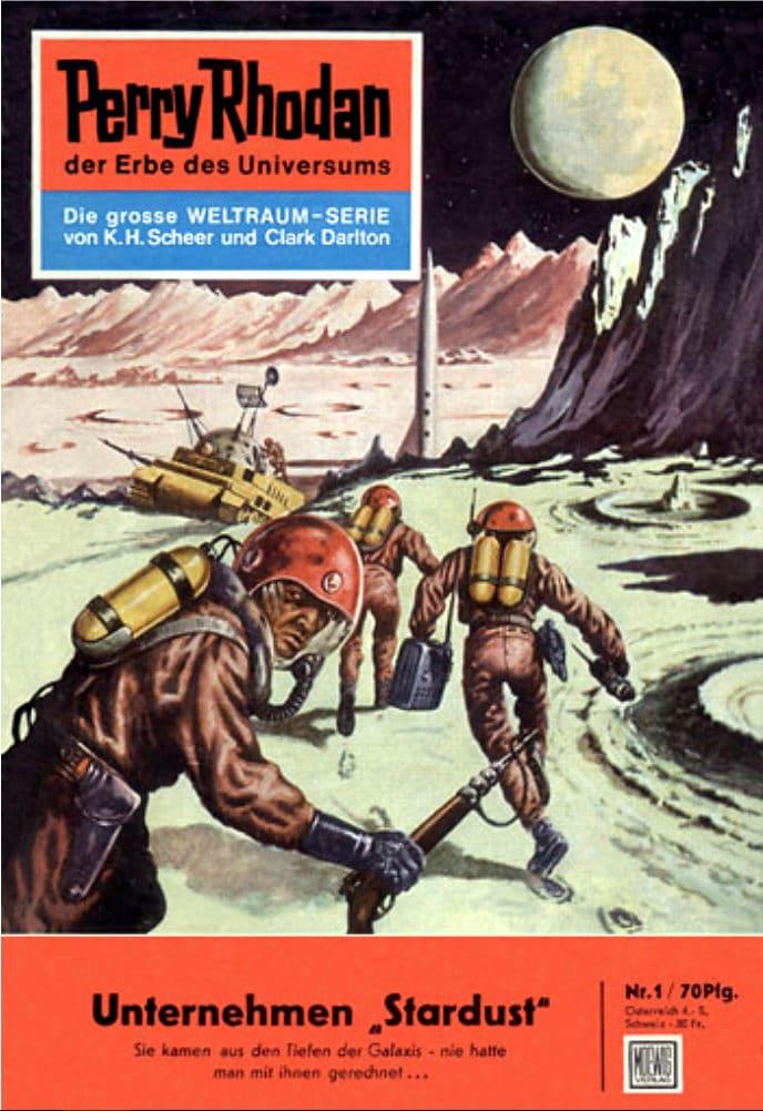 """""""Unternehmen Stardust"""" ist der erste Heftroman im Perry-Rhodan-Silberband """"Die Dritte Macht"""" (c) Pabel-Moewig Verlag, Rastatt"""