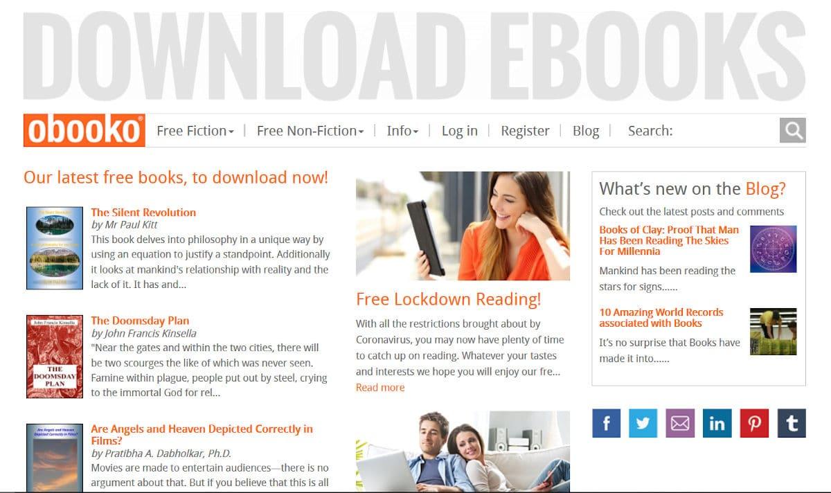 Kostenlose E-Books bei Obooko