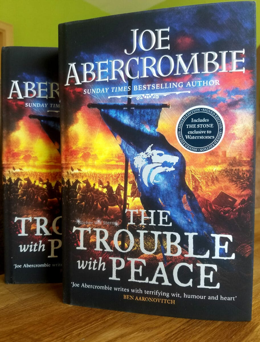 Meine aktuellen Cover-Favoriten 2020. Joe Abercrombie: The Trouble With Peace
