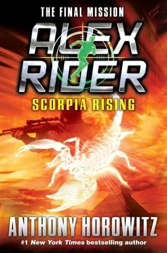 """Eines der schönsten älteren Cover der englischen Taschenbuchausgabe von """"Scorpia Rising""""."""